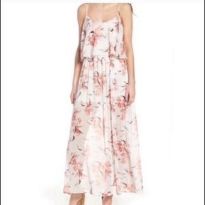 Leith Floral Sheer Layered Maxi Dress